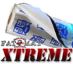 60 sq.ft FATMAT XTREME Car Van Sound Deadening/Heat Insulation + Dynamat Roller