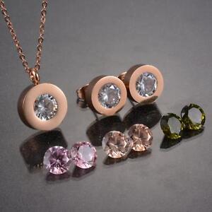 Fine Jewelry Trend Set Kette Anhänger Ohrstecker 750er Gold 18k Vergoldet Rosegold S2771l Possessing Chinese Flavors