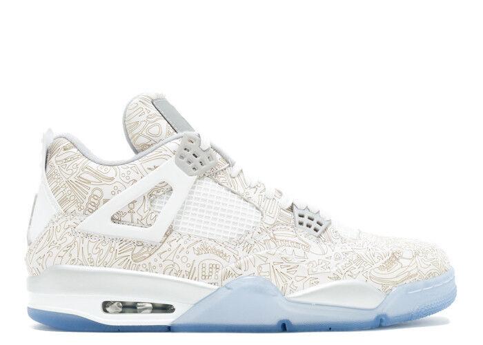 Nike Air Jordan Retro 4 IV LASER 705333-105 White Metallic Silver