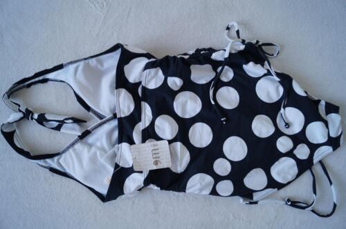 Badeanzug  Gr.36 schwarz//weiß gepunktet  NEU RODEO C/&A  Neckholder
