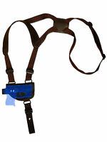 Barsony Brown Leather Shoulder Holster Mini/pocket .22 .25 .32 .380 W/ Laser
