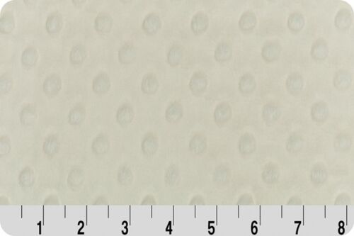 """Supersoft de tissu Ivoire SHANNON câlins DIMPLE peluche bébé en molleton 60/"""" de large"""