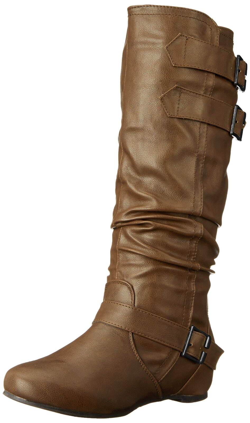 Brinley Co Women's Cammie-WC Slouch Boot Taupe Size 10