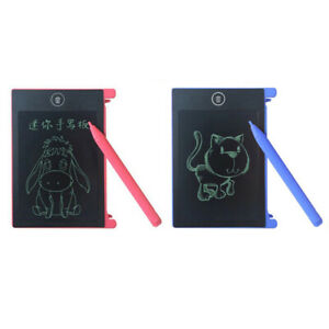 LCD Writing Tablet Memo Pad senza scrittura Tavola da disegno grafica da 4. K5B3