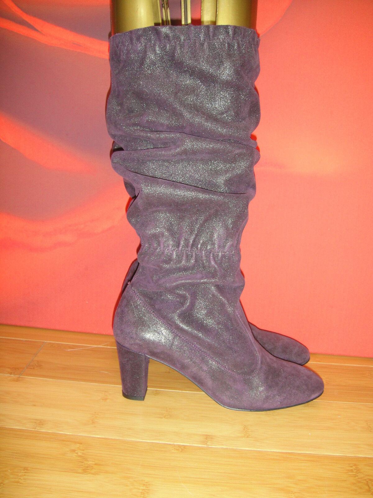 Superb ACCESSOIRE DIFFUSION lila shiny leather  slouch  Stiefel EU 36  59