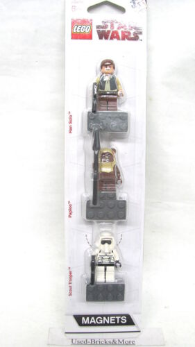 Trooper LEGO® Star Wars™ Han Solo Paploo Magnet Figuren Set nicht Verklebt!