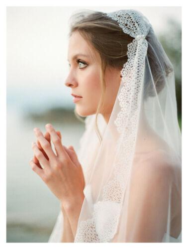 Vintage Lace Layer Bridal Veil Tulle Mesh Wedding Veils Romantic Handmade Veils