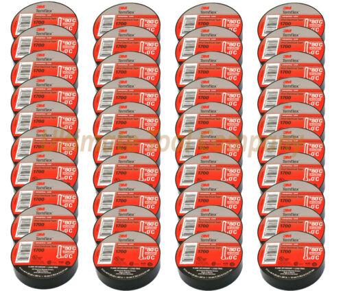"40pc 3M Electrical Tape Temflex 1700 60ft Rolls3M ProTape 40-Pack 3//4/""x60"
