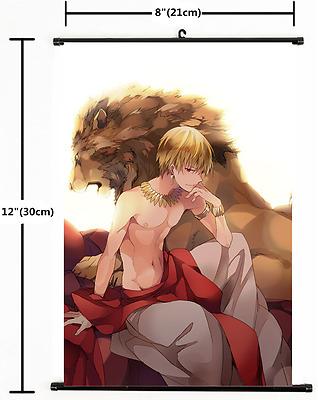2136 Anime Fate Zero Fate Grand Order Gilgamesh Wall Scroll Home Decor cosplay A