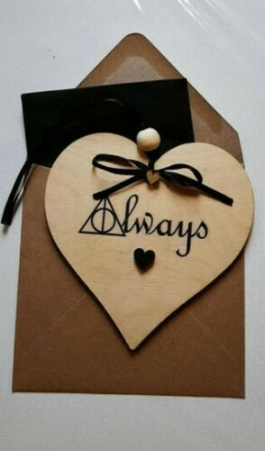 Harry Potter romantic card Always romantic personalied wooden card