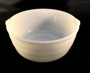 GE-General-Electric-10-034-Replacement-Mixer-Bowl-White-Milk-Glass-Ribbed-w-Handles