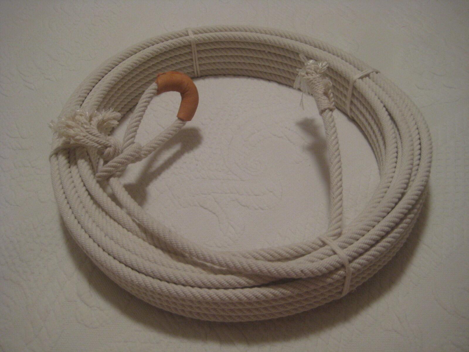 Cuerda de Algodón Lariat Reata Soga-CR-07 63 pies 5 16  De Diámetro, Con Quemador De Cuero