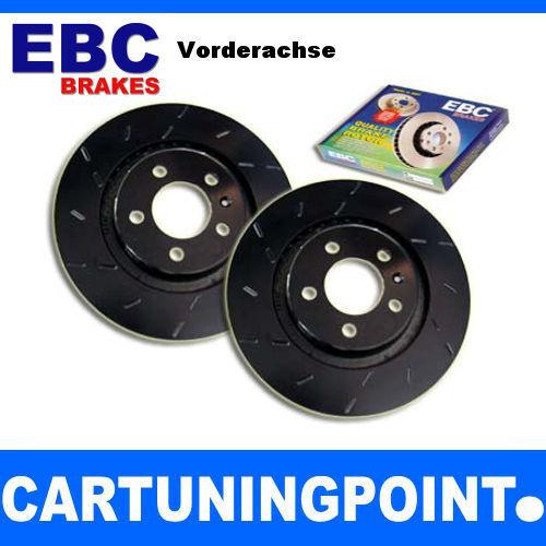 EBC Discos de freno delant. Negro Dash Para Volvo C70 (2) usr1434