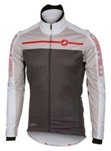 Castelli Mens Velocissimo White//Black Cycling Jacket Size L New