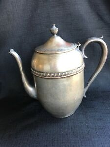 Antique Silver Plated Teapot Marked