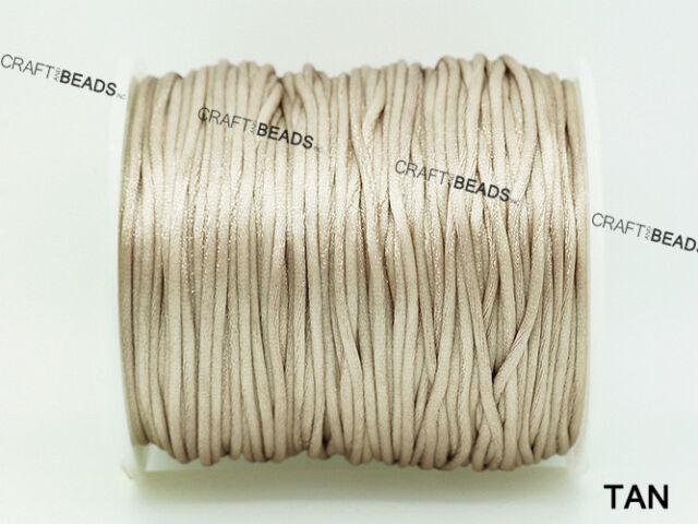 BOGO 1mm Bugtail Satin Nylon Cord Shamballa Macrame Trim Spool Beading 2x50ft