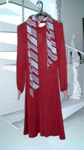 RONCELLI Vintage Wool Blend LS Dress S/M Burnt Ora