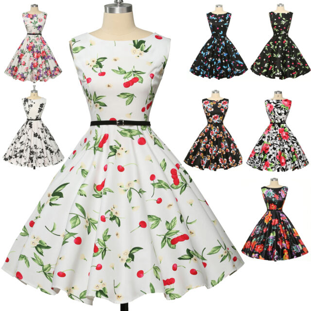 GK Housewife Vintage Retro 40s 50s Swing Polka Dot Party Pinup Dress