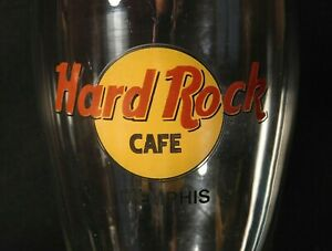 Hard-Rock-Cafe-8-1-2-034-Tall-Pilsner-Beer-Drinking-Glass-Memphis-Excellent-Cond