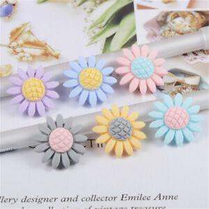 23mm-Flat-Back-Sunflowers-Resin-DIY-Art-Craft-Embellishments-Decorations-20-Pack