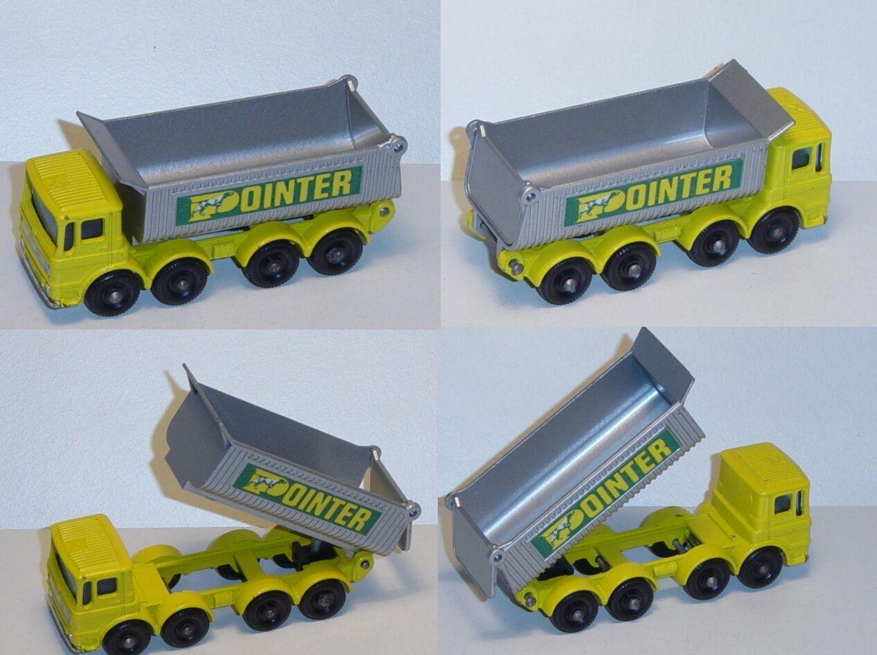 Matchbox 51 Eight Eight Eight Wheel Tipper, zinkyellow silvergreymetallic, POINTER 30cc3a