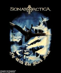 SONATA-ARCTICA-cd-lgo-Unia-FLY-WITH-THE-BLACK-SWAN-Official-SHIRT-XXL-2X-New-oop