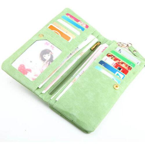 Womens Leather Wallet Long Zipper Purse Card Holder Case Phone Clutch Handbag.