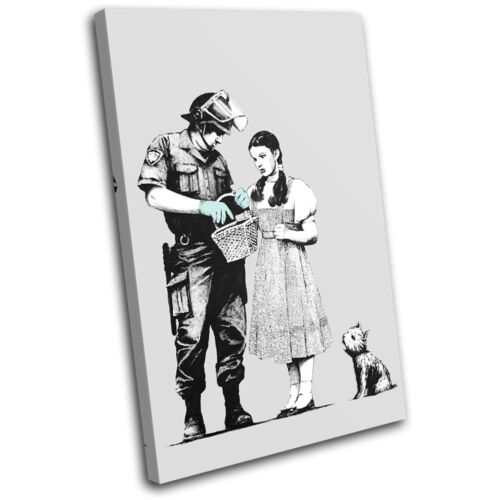 Stop Search Banksy Painting SINGLE CANVAS WALL ART Picture Print VA