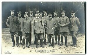 Antique-WW1-military-RPPC-postcard-portrait-Generaloberst-Von-Kluck