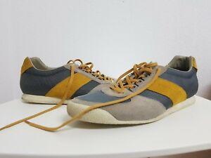 Sneaker-Schuhe-von-HUGO-BOSS-Orange-Modell-Orleen-Gr-45-grau