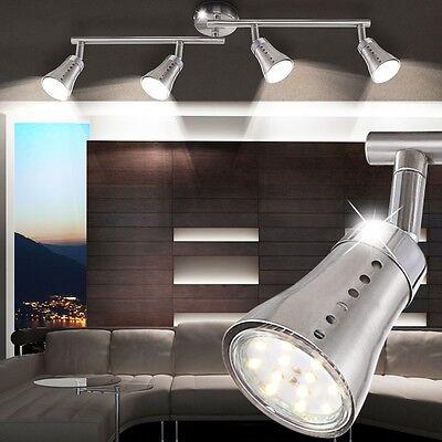 12W LED Wohnzimmer Decken Lampe Küchen Flur Bad Leuchte 4er Spot Leiste Strahler