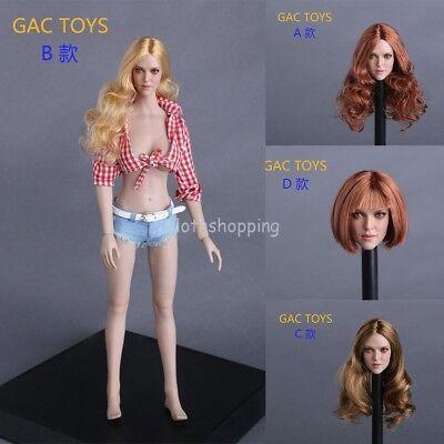 GACTOYS GC009 1//6 Female Head Sculpt A Long Hair For PHICEN Action Figure Modle
