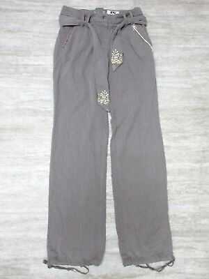SMALL NEW Da-Nang Women/'s Pants W// Belt Beaded MYSTERY STT19471429 Size