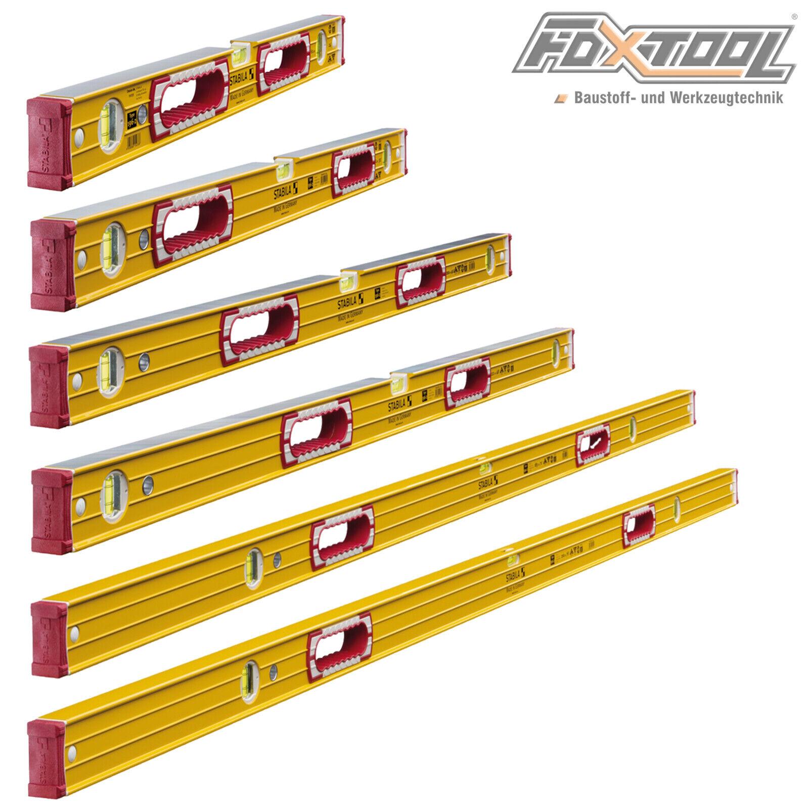 Stabila Aluminium Wasserwaagen 196-2 Set 6 Teilig 61+81+100+122+183+200cm