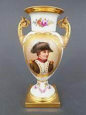 (K477) KPM Vase Französische Form, mit Portrait des Napoleon Bonaparte, H= 19 cm