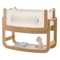 Snuz Snuzpod Bedside Baby Nursery Bedtime Bassinet Crib - 3 In 1 - Natural