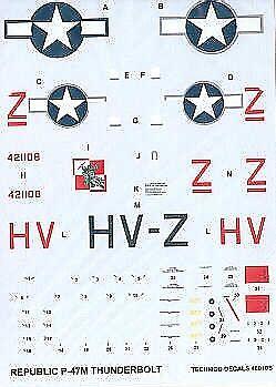 TECHMOD 1/48 Republic P-47M Thunderbolt # 48010