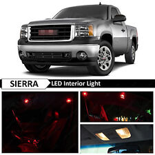 14x Red Interior LED Lights Package Kit for 2007-2013 GMC Sierra
