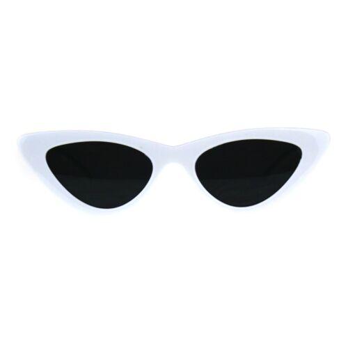 Womens Cateye Sunglasses Lolita Fashion Thin Cat Eye Frame UV 400