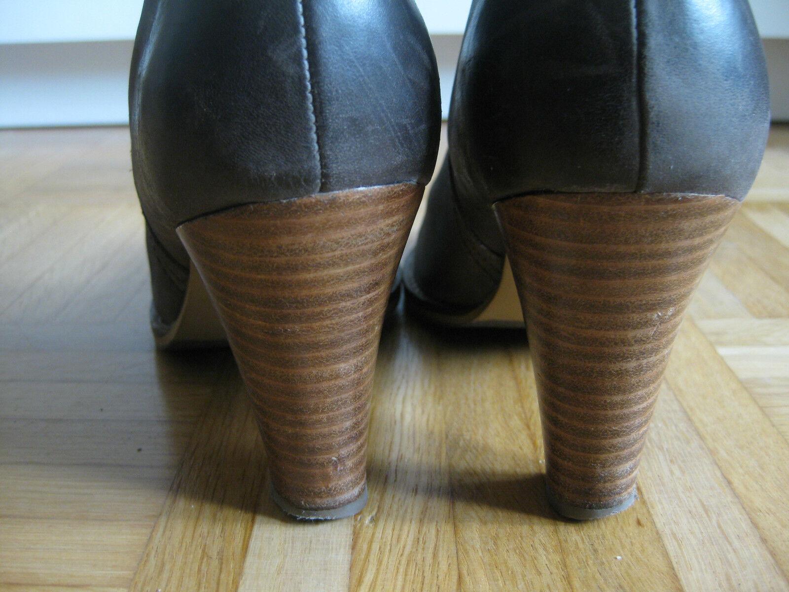 Lederstiefel Oxmox braun / Glattleder taupe 37 echtes Leder Glattleder / Damenstiefel Winter eae407