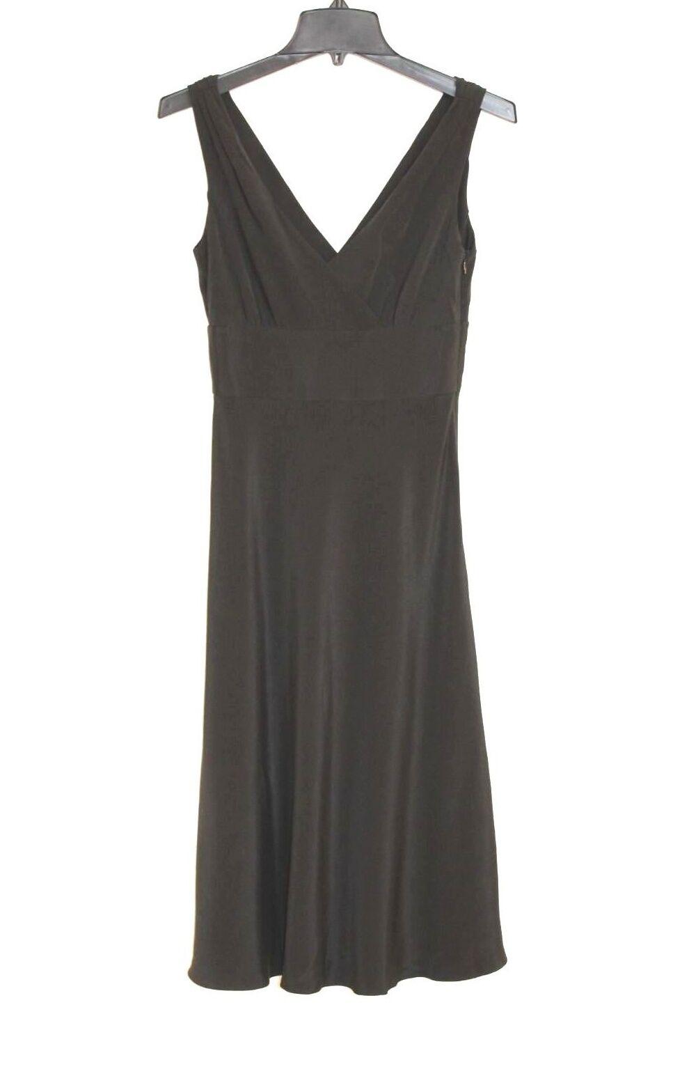 J. Crew - 0 (XS) - Solid schwarz 100% Silk - Sleeveless Empire Waist Formal Dress