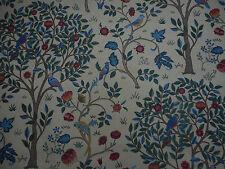 William Morris Curtain Fabric 'Kelmscott Tree' 1.3 METRES (130cm) Forest/Gold