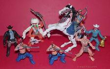 CHAP MEI * Cowboys , Indians, Sherrif, Bandit, Horse * 8 Wild West Figures *