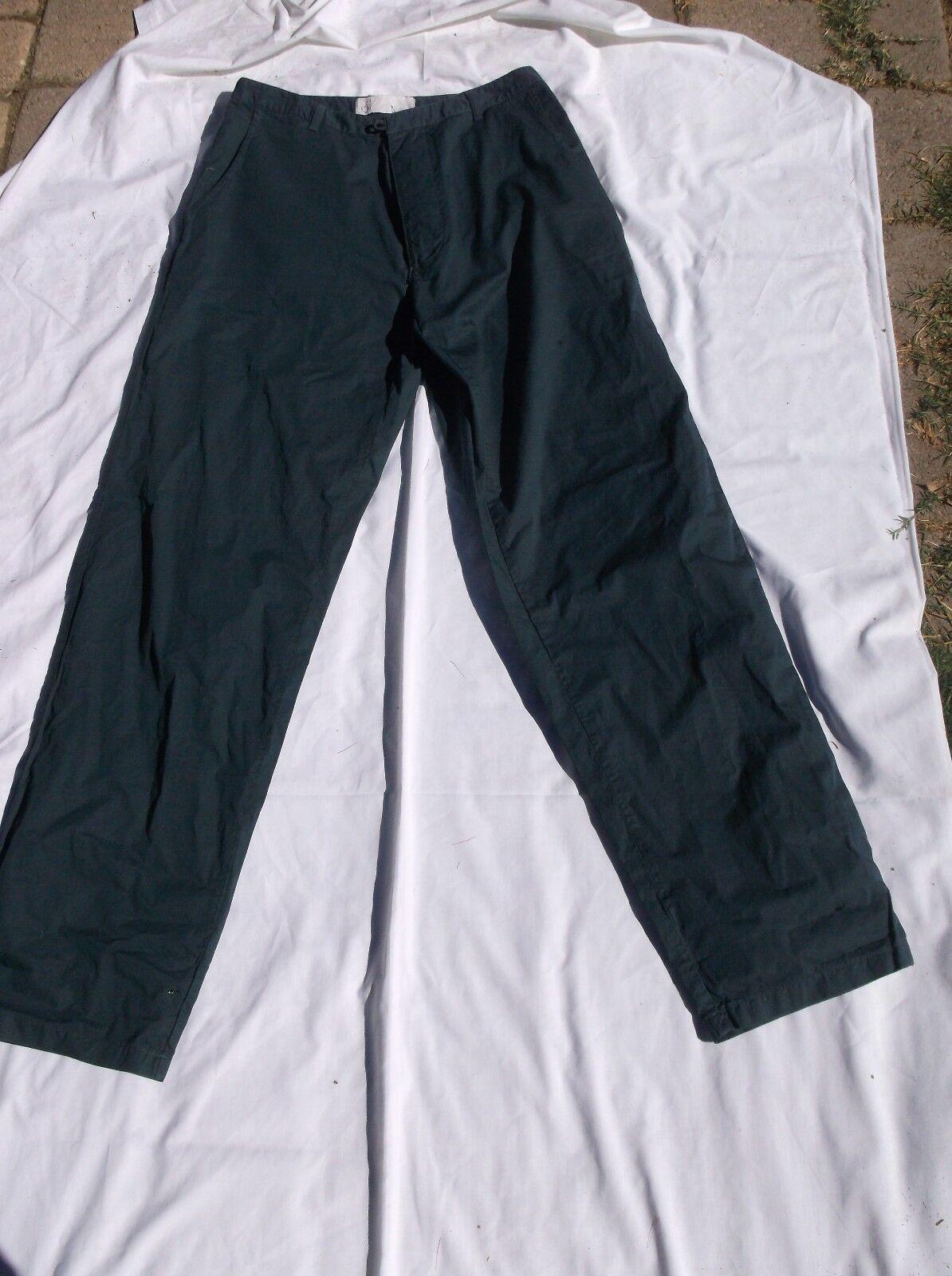 Romeo Gigli bluee cotton pants  NWT  32 x 35 summer-weight high waist