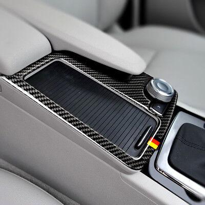 Carbon Fiber Gear Shift Panel Cup holder Trim Sticker for Benz  W212  C W204 RHD