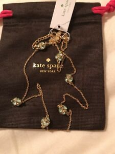Authentic-Kate-spade-Lady-Marmalade-Necklace-StationMint-Gold-6-Balls-W-Dust-Bag