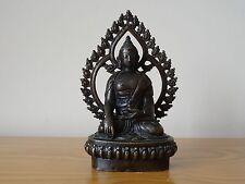 c.20th - Vintage Chinese China Bronze Buddha Figure Figurine