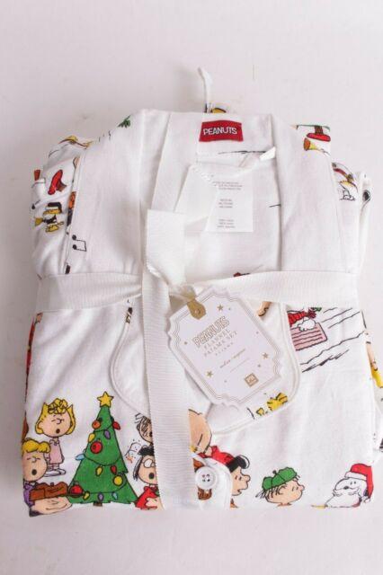 Nwt Pottery Barn Pb Teen Peanuts Snoopy Pj Flannel Pajama