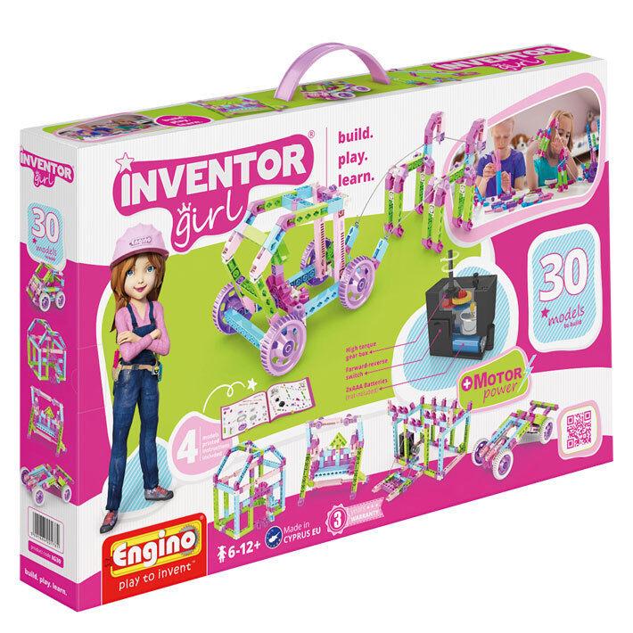 Inventor Girl - 30 modelloli - Set motorizzato  - Costruzioni  fantastica qualità