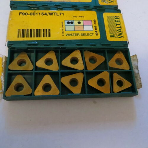 10 Pcs WALTER carbide turning inserts F90-001154//WTL71 made in Germany